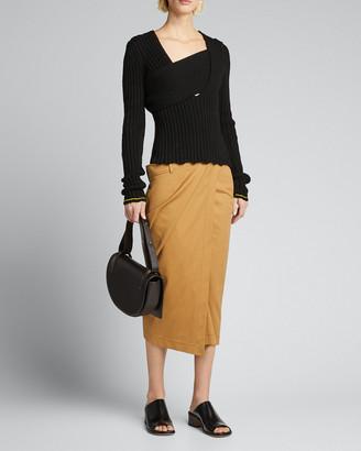 Bottega Veneta Boucle Ribbed V-Neck Sweater