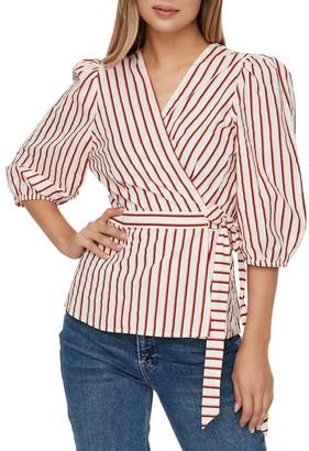 Vero Moda Olympia Striped Wrap Top