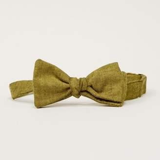 Blade + Blue Solid Citron Olive Green Melange Bow Tie