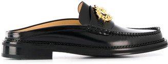 Versace Slip-On Buckle Loafers