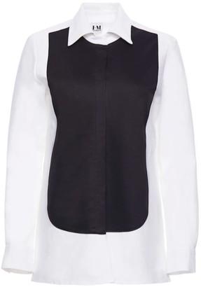Hilary Macmillan Tuxedo Shirt Dress