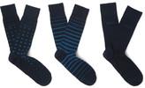 HUGO BOSS Three-pack Patterned Cotton-blend Socks