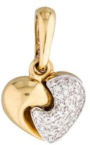 Chimento 1.67ctw Diamond Heart Pendant
