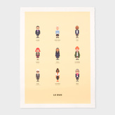 Paul Smith Iconic Fashion Designers Print By Le Duo For Image Republic