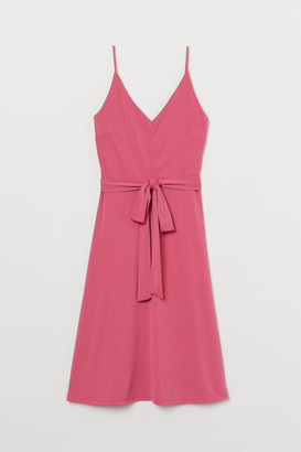 H&M H&M+ Creped Dress - Pink