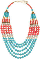 Nakamol Multi-Strand Necklace, Turquoise/Pink