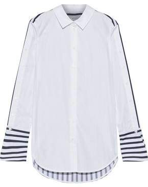 Equipment Paneled Striped Cotton-poplin Shirt