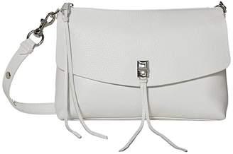 Rebecca Minkoff Darren Top Zip Shoulder (Optic White) Handbags