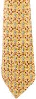 Hermes Silk Flower Pot Print Tie