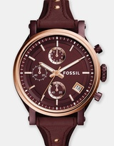 Fossil Original Boyfriend Red Chronograph Watch