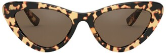 Miu Miu Butterfly Tortoiseshell Cat Eye Sunglasses