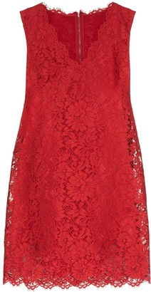 Dolce & Gabbana Lace Shift Mini Dress
