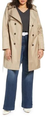 Halogen Hooded Trench Coat