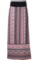 Women's AB Studio Contrast Print Maxi Skirt