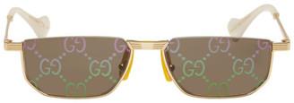 Gucci Gold Fashion Show 60s Sunglasses