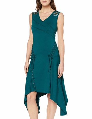 Joe Browns Women's Quirky Lace Trim Asymmetric Hem Dress