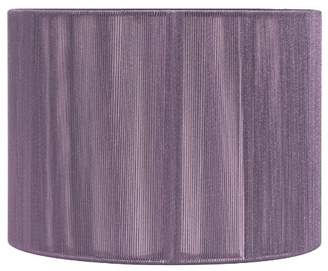 Pacific Lifestyle 265-14-AU 14-inch Cylinder Drum Shade Covered in Silk String, Aubergine
