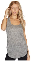 Heather Linen Shirred Side Tank Top Women's Clothing