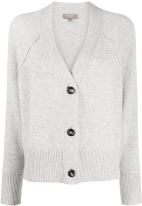 N.Peal exposed seam V-neck cardigan