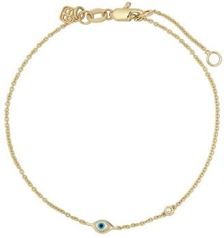 Sydney Evan 14kt yellow gold Evil Eye diamond bracelet