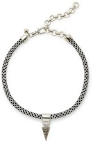Rebecca Minkoff Climbing Rope Choker With Charm Drop