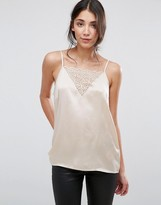 Selected Seleted Rita Silk and Lace Cami