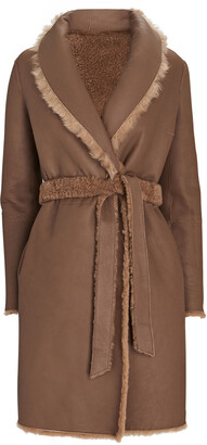 Yves Salomon Belted Reversible Shearling Coat