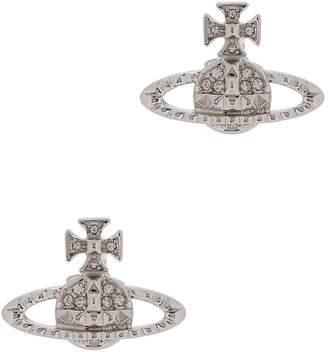 Vivienne Westwood Mayfair Bas Relief Silver-tone Orb Earrings