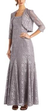 R & M Richards Petite Lace Gown & Bolero