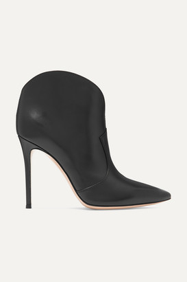 Gianvito Rossi Mable 105 Leather Ankle Boots - Black