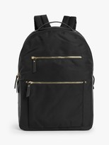 John Lewis & Partners Florence Nylon Backpack, Black