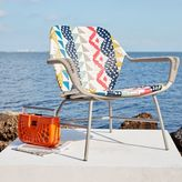 west elm All-Weather Wicker Colorblock Woven Lounge Chair - Multi