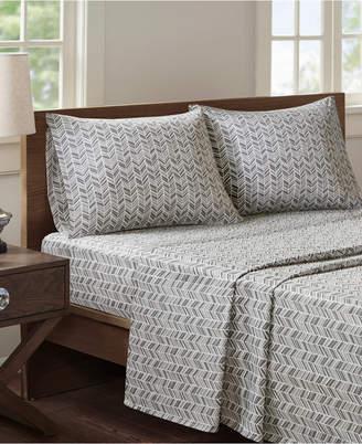 Madison Home USA Essentials Chevron 4-pc Full Microfiber Printed Sheet Bedding