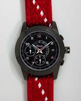 Miansai M2 Rope-Strap Chronograph Watch, Red