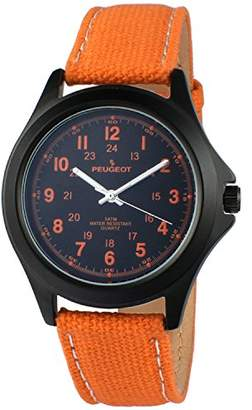 Peugeot Men Aviator Watch 24Hr Time Markers
