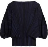 Sonia Rykiel Plissé Stretch-knit Top