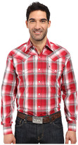 Stetson Red Barn Ombre Long Sleeve Woven Snap Shirt