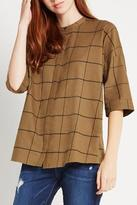 BCBGeneration Plaid Blouse