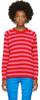 Molly Goddard Pink and Red Jim Sweater