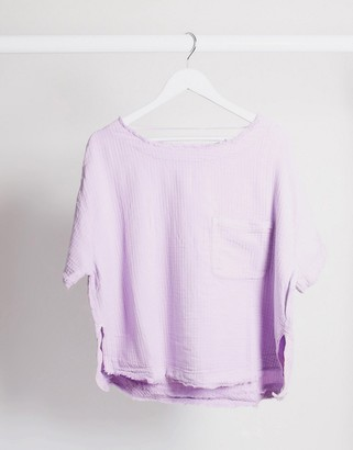 Free People Palo Alto top in lavender