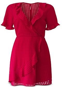 BCBGeneration Ruffled Faux Wrap Dress