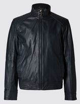 Marks and Spencer Casual Biker Jacket Made from Premium Soft Feel Leather
