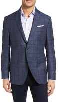 Ted Baker Men's Trim Fit Windowpane Wool & Linen Sport Coat