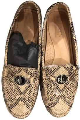Ralph Lauren Beige Leather Flats