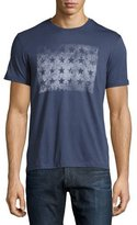 John Varvatos Faded Block Star Graphic T-Shirt, Blue