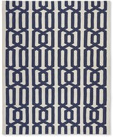 Williams-Sonoma Graphic Link Indoor/Outdoor Rug , Dress Blue