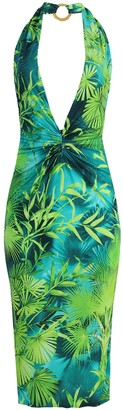 Versace Jungle Print Halter Dress