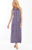 J. Jill Shirred-Waist Knit Maxi Dress