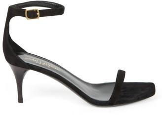 Saint Laurent Lexi Ankle-Strap Suede Sandals
