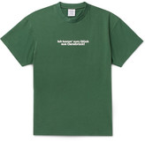 Vetements Printed Cotton-jersey T-shirt - Green